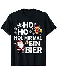 Lustiges Ho Ho Hol Mir Mal Ein Bier Weihnachten Ugly X-Mas T-Shirt