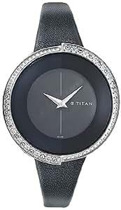 Titan Purple Analog Black Dial Women's Watch - 9943SL01