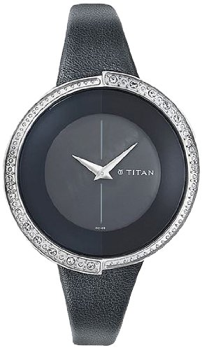 Titan Purple Analog Black Dial Women's Watch - 9943SL01 image