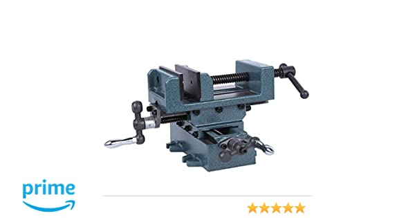 KATSU Compound Cross Slide Industrial Strength Benchtop and Drill Press Vice 160MM