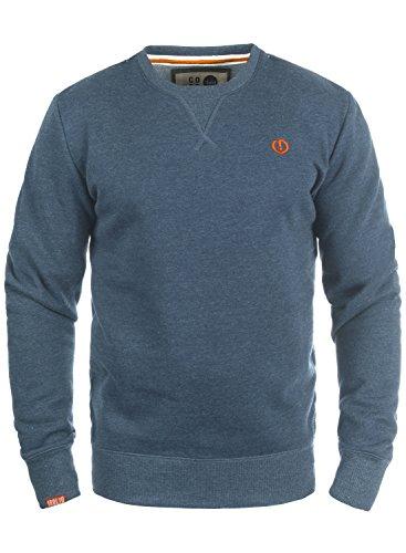 SOLID Benn Herren Sweatshirt Pullover Sweater mit Rundhals-Ausschnitt aus hochwertiger Baumwollmischung, Größe:XXL, Farbe:Grey Blue Melange (1946M)