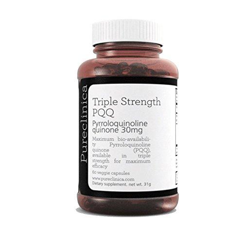 Stärke 60 Kapseln (PQQ (Pyrroloquinoline) in dreifacher Stärke - Unglaubliche 60 vegetarische 30mg Kapseln - 300% stärker als die Produkte anderer Anbieter. Sku: PQQ3)