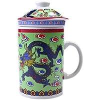 WTS Products Vert Dragon Chinoises Trois Pièces Tasse (Vert)