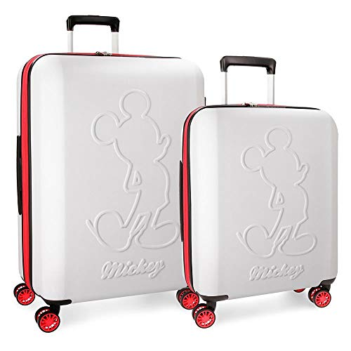 Disney Colored Koffer-Set, 68 cm, 115 liters, Weiß (Blanco)
