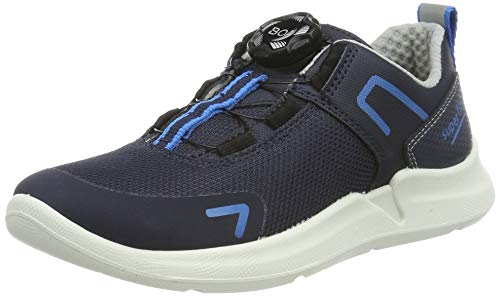 Superfit Jungen Thunder Sneaker, Blau (Blau/Blau 80), 35 EU