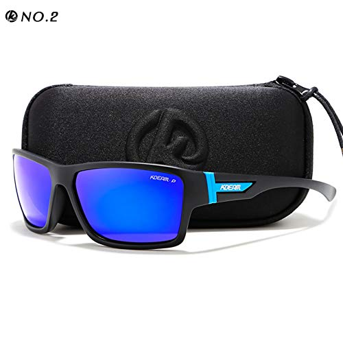 Taiyangcheng Outdoor Polarisierte Sonnenbrille Brille Männer Sonnenbrille 100% Uv Reißverschluss Fall Sport Eyewear,C2,Hard Case