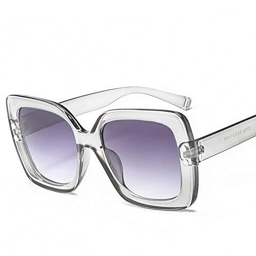 CCGKWW Übergroße Sonnenbrille Frauen Transparent Farbverlauf Sonnenbrille Big Frame Vintage Eyewear Uv400 Brille Für Die Dame