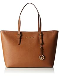 Michael KorsJet Set Travel Saffiano Leather Top-Zip Tote - Bolsa de Asa Superior Mujer