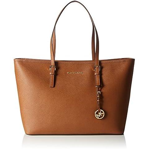 Michael KorsJet Set Travel Saffiano Leather Top-Zip Tote - Bolsa de Asa Superior Mujer