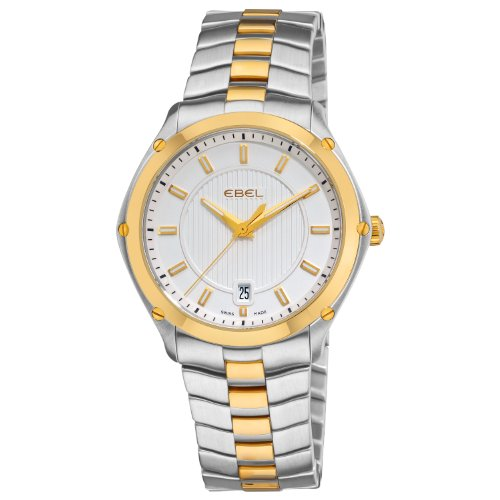 Ebel Men's 1955Q41/163450 Classic Sport Two Tone Silver Dial Watch
