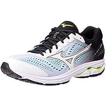 3e18942b39a9f Mizuno Men Wave Rider 22 Neutral Running Shoe Running Shoes White - Black 10