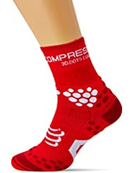 Compressport Trail 2.1 - Calcetín unisex, color rojo, talla 2
