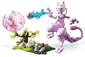 Mega Construx Pokemon Figuras Mew vs. Mewtwo Clash, Juguetes de Construcción Niños +6 Años (Mattel FVK77)
