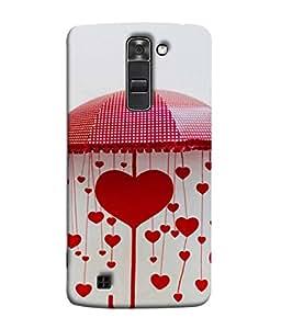 Fuson Designer Back Case Cover for LG K7 :: LG K7 Dual SIM :: LG K7 X210 X210DS MS330 :: LG Tribute 5 LS675 (Hearts Spades Aces cards Red Love )