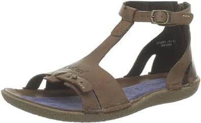 kickers preppy sandales femme marron 36 eu chaussures et sacs. Black Bedroom Furniture Sets. Home Design Ideas