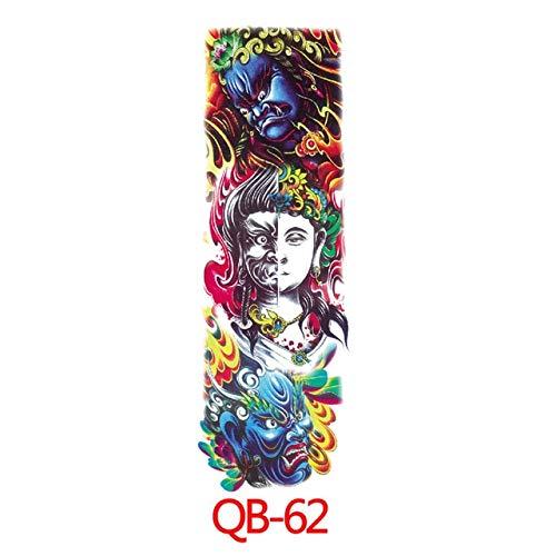 HXMAN Chinesische Drachen Arm Ärmel Tattoo Wasserdicht Temporäre Tattoo Aufkleber Herren Voller Blume Tatu Körper Kunst Tattoo Girl (2 Packungen) 62