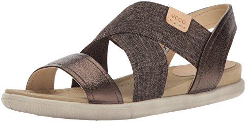 ECCO Damen Damara Offene Sandalen mit Keilabsatz, Braun (50533LICORICE/POWDER), 40 EU