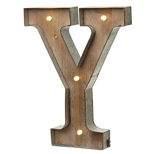 Unbekannt Heaven Sends Buchstaben mit LED-Beleuchtung (32,5 x 5 x 41 cm) (Y)