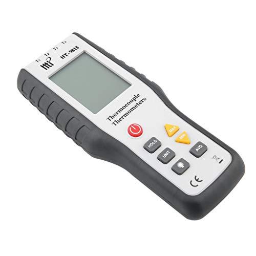 Leoboone Echt Industrie-LCD-Digital-K Typ Thermoelement Thermodetektor 1372 Grad Celsius Thermosonde HT-9815