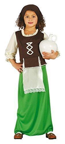 Fancy Me Mädchen mittelalterlich Gastwirt Weihnachten Geburt Play Weihnachten festlich Kostüm Kleid Outfit 3-12 Jahre - Grün, 3-4 ()