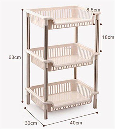 Madaye Baño baño estantes multiusos almacenamiento estantes de almacenamiento piso lavabo 40*30*63cm