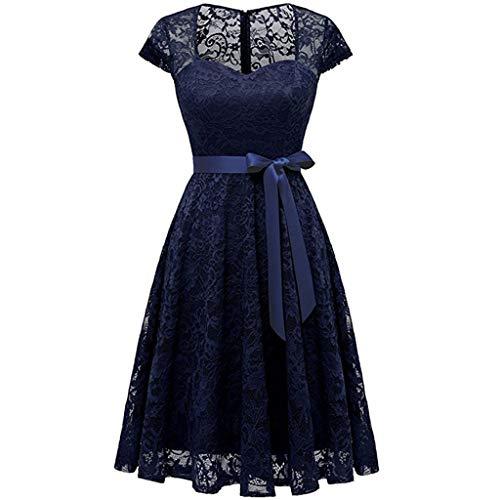 Damen Abendkleider Partykleid elegant 50er Jahre Petticoat Kleider Rockabilly Kleider Cocktailkleider Rundhals Mode Kleid Hemdkleid Solide Rock Mädchen Kleider