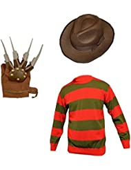 Unisex Kinder Jungen Mädchen Freddy Krueger Halloween Fancy Kleid INC Hut und Jumper Set Alter 7/89/1011/12