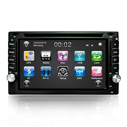 CZWXCD Auto 2DIN DVD GPS Navigation Autoradio GPS Bluetooth USB/SD Universal Mp3 Mp4 Mp5 Aux Spieler Lenkradsteuerung