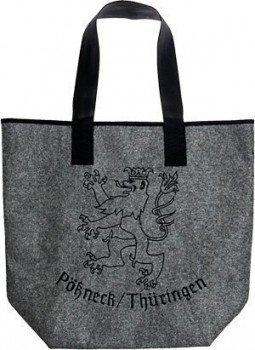 """Umhängetasche Schultertasche Tasche Bag Filztasche mit großflächiger Einstickung """"Pößneck/Thüringen"""" NEU (26111)"""