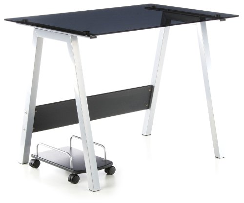 hjh OFFICE 673925 bureau multimédia, table informatique DELPHI noir, dimensions: 76 x 100 x 70 cm
