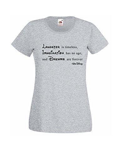 5394d47e8 Camiseta para dama con Walt Disney Frase «Imaginación no se ha edad