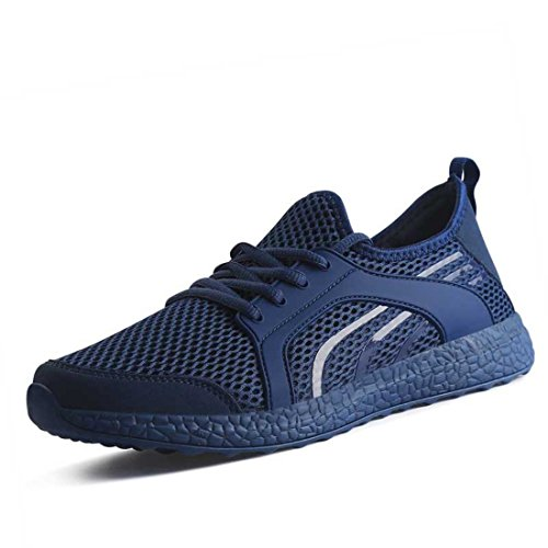 Men's Air Mesh Breathable Super Light Outdoor Running Shoes Navy blue