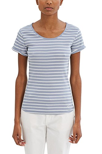 edc by ESPRIT Damen T-Shirt 037CC1K022, Blau (Light Blue Lavender 445), 36 (Herstellergröße: S) (Damen 17 T-shirt Light)