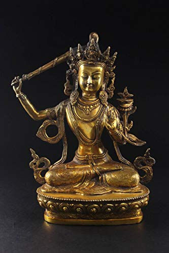 Manjushri-statue (Buddha Bronze-Figur Manjushri 29,5cm Buddhistische Statue China - Asien Lifestyle)