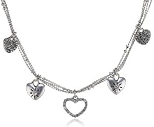 Pilgrim Silver Plated Necklace with Crystal Stones of 38cm Length Item No. 101226011