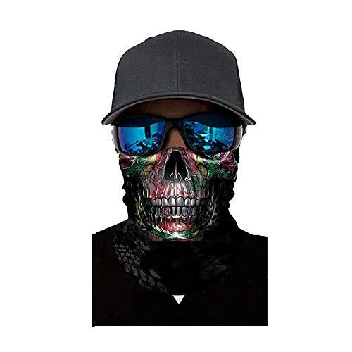 (NINGSANJIN Face Shield Sturmhaube ,viele verschiedene Designs* Multiunktionstuch Maske Fishing Totenkopf Schal Skull Bandana Gesichtsmaske Halstuch Ski Motorrad Paintball Face Shields Maske (C))