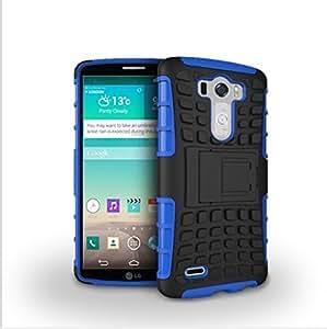 Etui ProteKtoR LG G3 4G/LTE 16/32 Go bleu/noir avec stand - Housse coque de protection Silicone avec stand LG G3 - Prix découverte accessoires pochette XEPTIO case