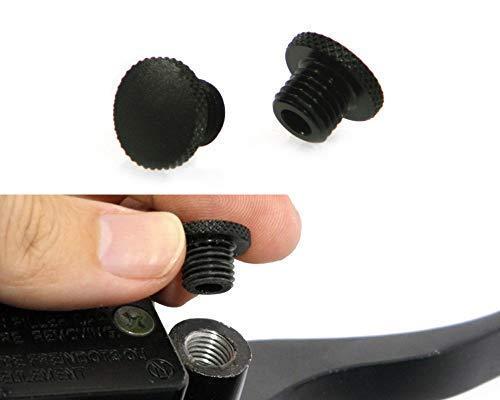 Paar Aluminium M10 Gewinde Yamaha Motorrad Spiegel Blindstopfen Bitte Beachten: Rechts - gegen den Uhrzeigersinn Rotation. Linke Seite - Rechtslauf