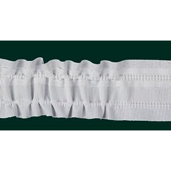 100m Kräuselband weiß 22mm Gardinenband Faltenband Universalband Gardinen