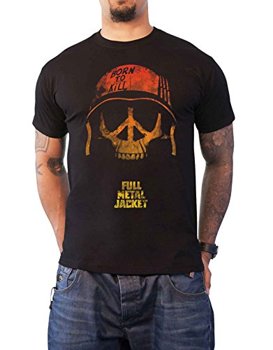 Full Metal Jacke T Shirt Born to Kill Movie Poster Nue Offiziell Herren (Metal Full Cap)