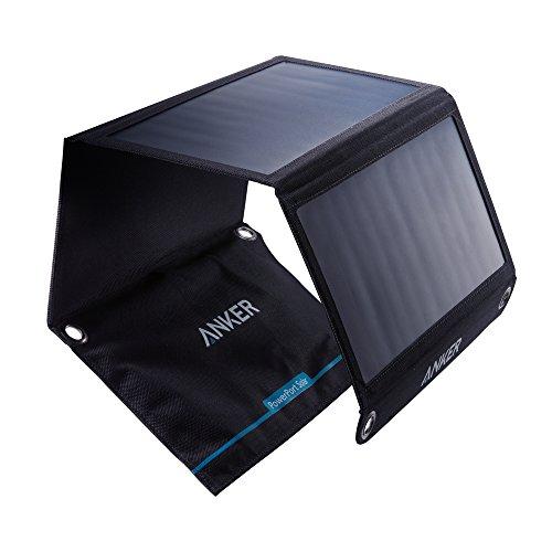 Anker PowerPort Solar - Chargeur Solaire Portable 21W 2 Ports USB pour iPhone X / 8 / 8 Plus / 7 / 7 Plus / 6 / 6 Plus, iPad Air 2 / mini 3, Galaxy S6 / S6 Edge et bien d'autres