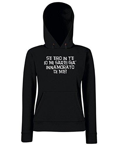 T-Shirtshock - Sweats a capuche Femme T0576 se ero in te mi ero gia innamorato fun cool geek Noir