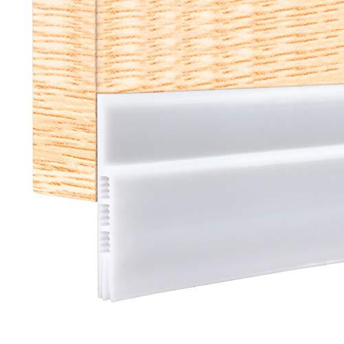 Selbstklebende Tür Türdichtung Dichtungsstreifen Zugluftstopper Warme und Kälte Blocker Silikon Türstopper gegen Insekt Schalldichtung Winddicht Staubdicht - Weiß (100 * 5 cm)