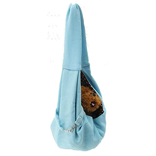 b22d7fe818e hangang Pet Sling Carrier Bag Hands-Free réversible Small Travel Tote Soft  comfortable Puppy Pouch