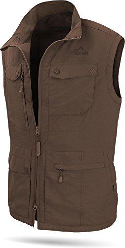 normani Herren Outdoor Weste mit atmungsaktivem Sonnenschutzmaterial 50+ [XS-5XL] Farbe Braun Größe 4XL