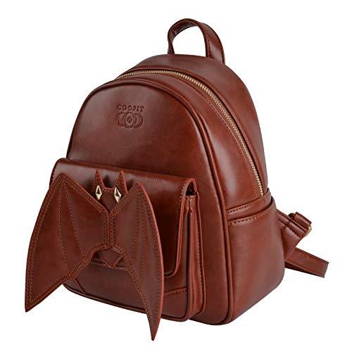 Mini Rucksack, COOFIT Gothic Rucksack Kleiner Rucksack Fledermaus Bat Rucksack für Mädchen Schultasche Casual Daypack Rucksäcke Schulruc...