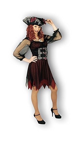 Piratin Abigail Kostüm - Tolles Piraten Kleid mit Hut - Gr. 36 38 (Sturm Kostüme Für Erwachsene)