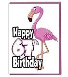 Pink Flamingo 67. Geburtstag–Damen–Tochter–Geburtstagskarte für Enkelin–Schwester–Freund
