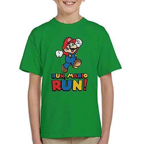 Run Mario Run Kid's T-Shirt, 3 colours - 3 to 13 years