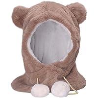 Baby-Winter-Hut, stricken Schal Earflap Kapuze Schals Schädel Caps, Jungen Mädchen warme Hut Kleidung Set, verstellbare Größe für Baby.